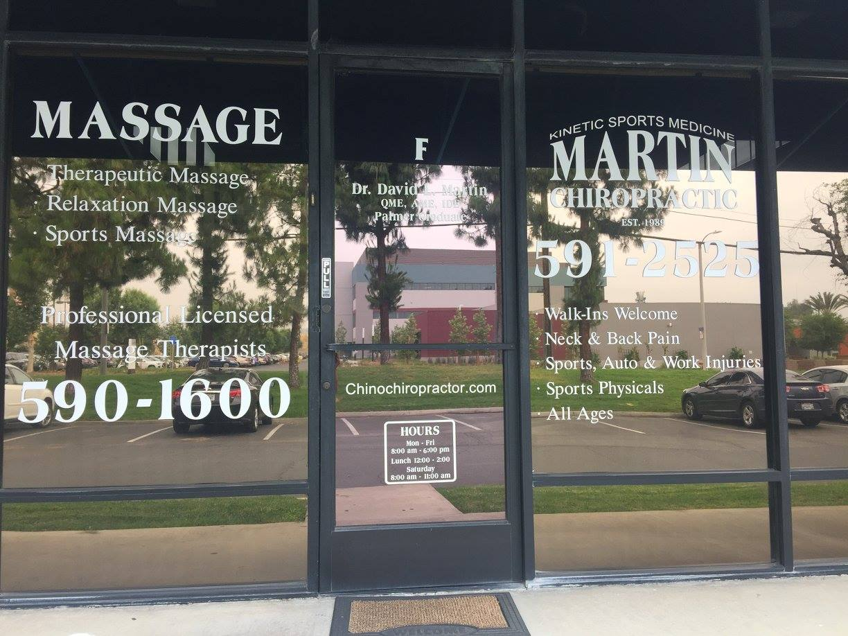 The front door of Martin Chiropractic a chino California chiropractor 91710